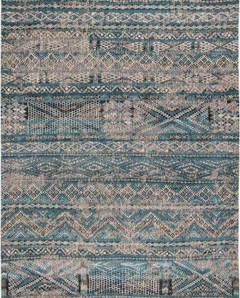 Louis De Poortere teppich CS 9110 Antiquarian Kilim Zemmuri Blue